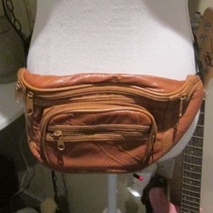 Handbags - Festival Brown Faux Leather Fanny Pack Crossbody